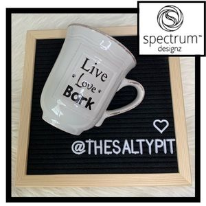 Just In! Spectrum Designz Mug, Live, Love, Bark